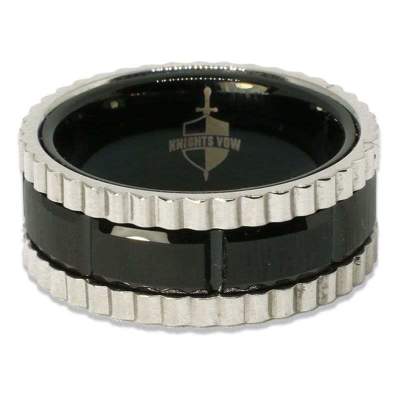 Men/'s Wedding Bands,Personalized Ring Rigid Silver Colored Lined Black Center Tungsten Ring Tungsten Tungsten Carbide Ring Tungsten Ring