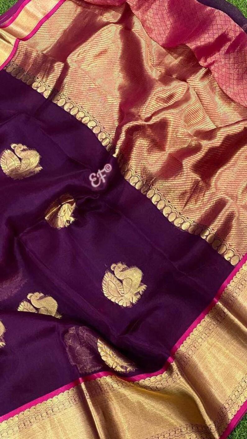 Kanchi organza silk saree
