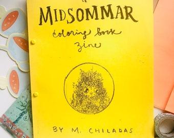 Midsommar Coloring Book Zine