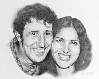 Handmade Portrait | Drawing from Photos | Professional Portrait Artist Near Me | Portrait Drawing | Personalised Portrait | Custom Portrait