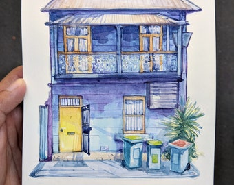 House Painting | House Portrait | House Drawing | Handmade | Premium Artist Quality | Gift Idea for Family |