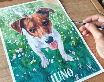 Pet Portrait | Handmade | Premium Artist Quality | Cat | Dog | Custom Pet Portrait | Gift for Pet Owners | Pets