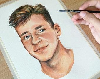Portrait Painting   Handmade   Premium Artist Quality   Gift Idea for Him, Her, Family   Birthday   Wedding   Anniversary   Valentine's Day