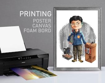 Printng Service, Poster, Canva, Foam-Board