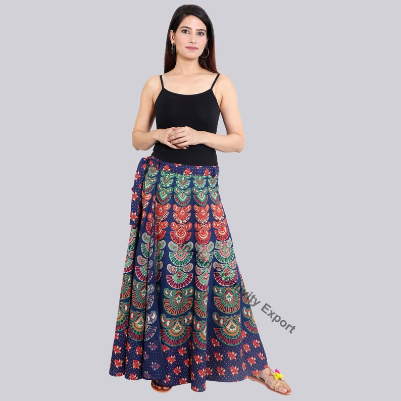 Cotton Skirt Boho Skirt Printed Skirt Hippie Skirt Wrap Skirt Maxi Skirt Long Skirt Bohemian Skirt Summer Skirt Skirt For Women Indian Skirt