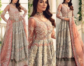 Pakistani Dress Etsy,Teenage Girl Fancy Pakistani Maxi Dresses For Weddings