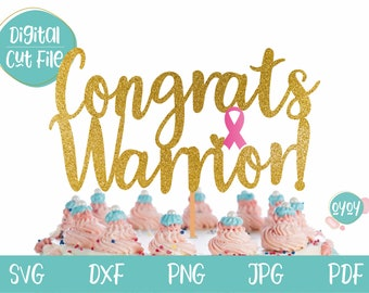 Cancer Free Cake Topper  Breast Cancer Topper  Glitter Cake Topper  Cancer Topper  Cancer Ribbon Cake  Cancer Free Decor  F Cancer