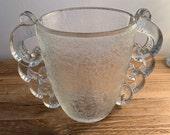 Amazing Original Pierre D 39 Avesn for Daum Handled Art Deco Glass Vase French 1930s