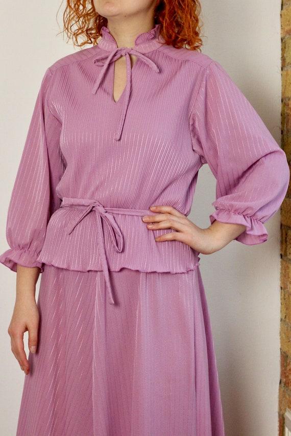 Vintage 1980's Maxi Lilac Dress