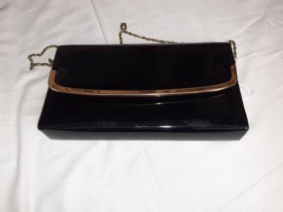 Jannette Louella Black Patient Leather evening bag