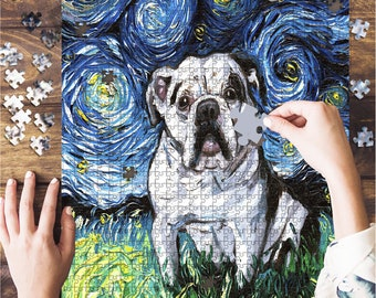 500 Piece Puzzles For Adults Bulldog Look Right Beside You Jigsaw Puzzle 500 Pcs,Puzzle Of Challenging Educational Games For Adults Kids