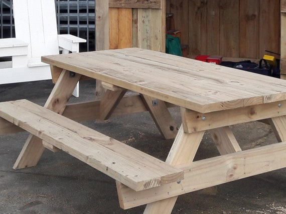 Six Seater Strong Picnic Table Woodworking Plans Etsy