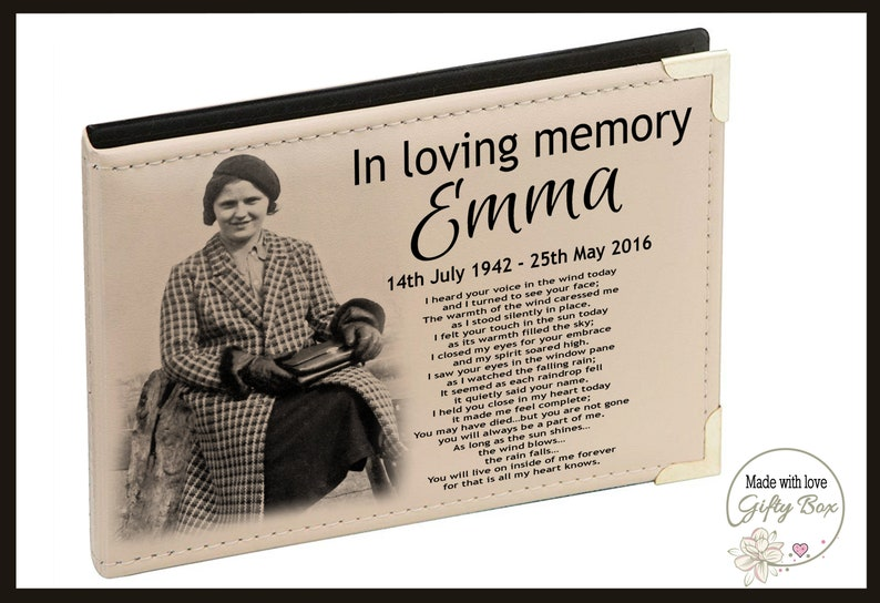 Memorial photo album. Labradoodle dog  Personalised photo album in loving memory bereavement gift Pet loss Pet dog or cat