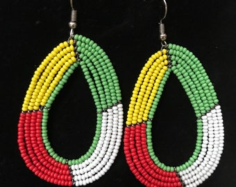 Embroidered Mismatched Oversized Earrings Big Asymmetric Embroidery Earrings Steampunk Jewelry Statement Earrings Tribal Ethnic Earings Gift