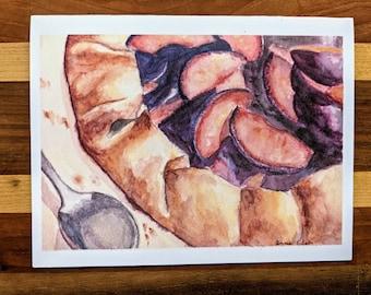 Pie Watercolor Notecard w/Envelope