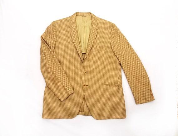Vintage 1960s McAlpin's Yellow Plaid Men's Suit Ja