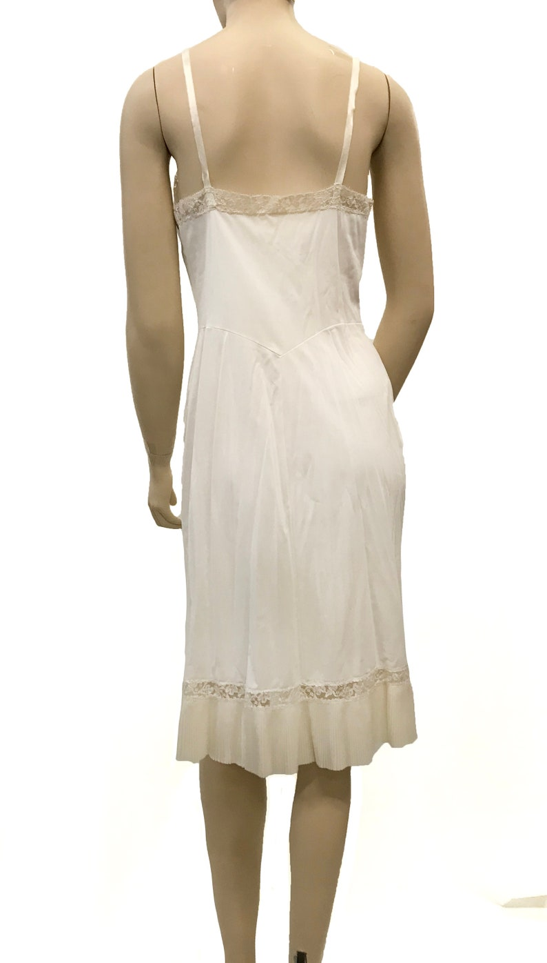 Vintage 1990s Slip Dress with Pleated Bust and Hem