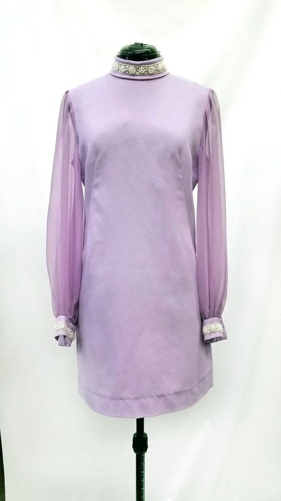 Vintage 1960s Lavender Party Dress
