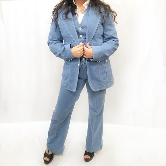 Vintage 1970's Lee 3pc. Denim Suit