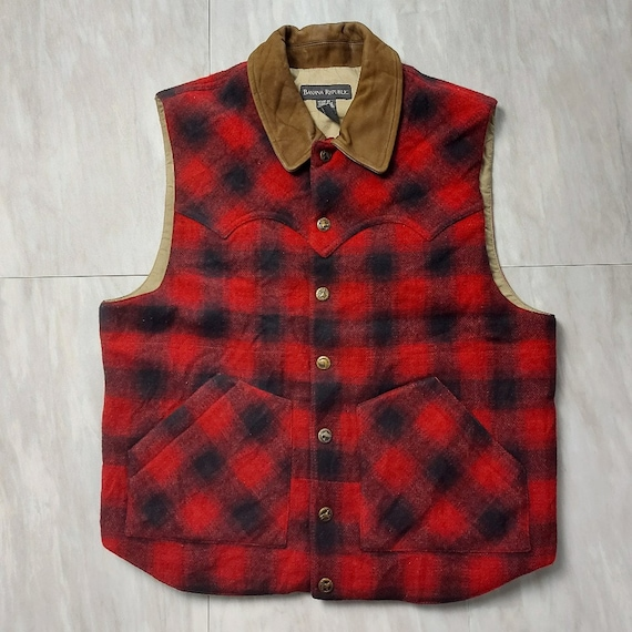 Vintage vest  | Banana Republic | Collared Wool Pl
