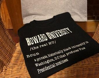 T-shirt- Howard University definition