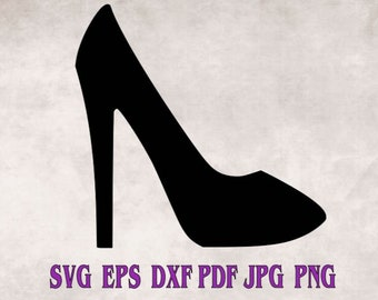 Fashion Heels Smart Stylish Lady Clothing Accessory Shiny Pump Collection SVG dxf eps png jpg High Heel Stiletto Shoe