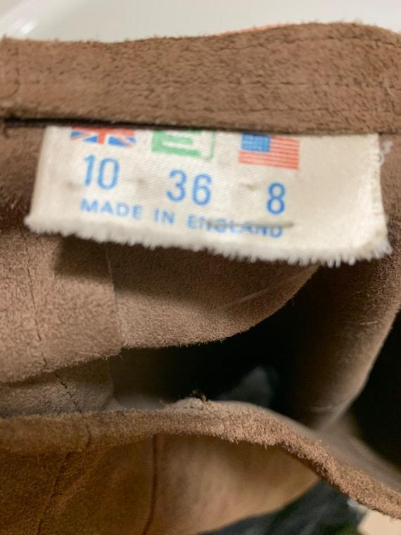 Vintage 1960s70s Brown Suede Skirt Mod Boho