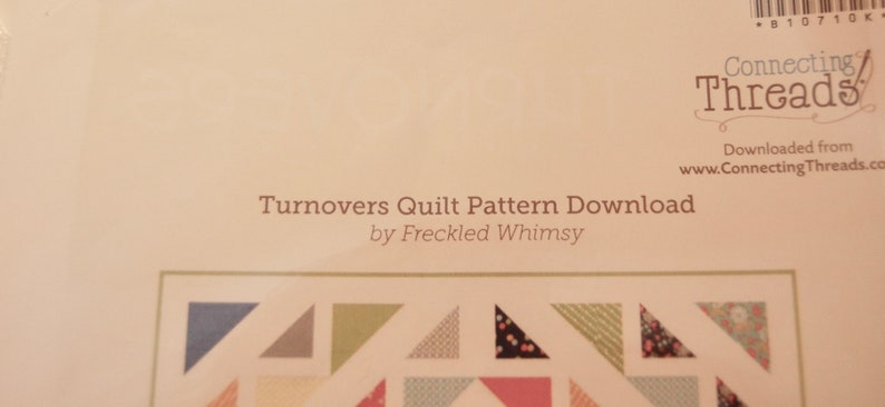 Turnovers Quilt Kit