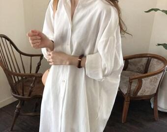 Linen shirt dress   Etsy