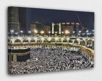 Poster Print Decor for Home /& Office Decoration I POSTER or CANVAS READY to Hang Hajj Pilgrimage Canvas Wall Art Design