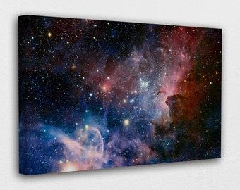Huge large Big Banner Thin Canvas Art Wall Custom Poster Scenery Universe Stars