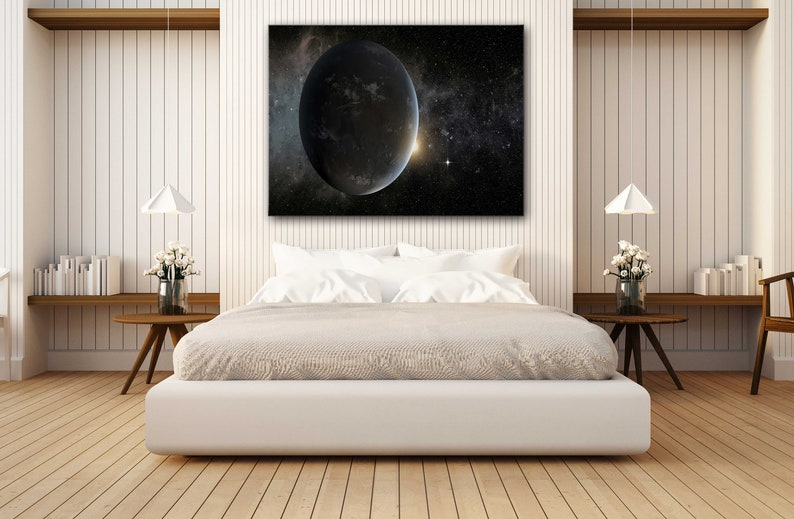Poster Print Decor for Home /& Office Decoration I POSTER or CANVAS READY to Hang Exoplanet Outer Space Canvas Wall Art Design