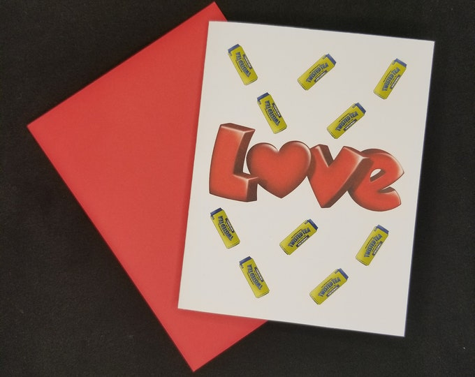 Twisted Tea Love Valentines Day Greeting Card. Twisted Tea greeting card, funny Twisted Tea card, Twisted Tea Valentines day card, Love Tea