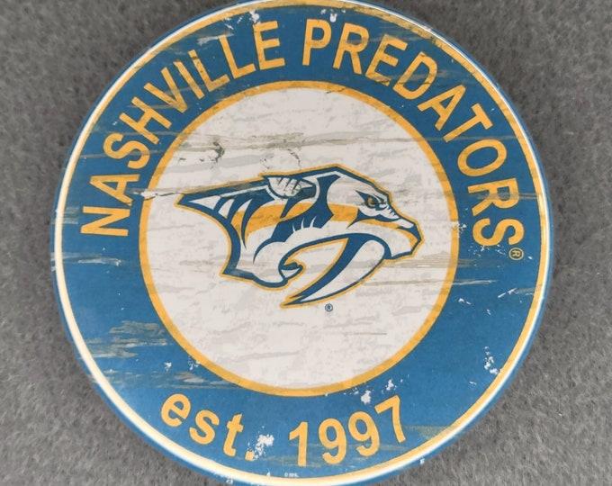 Nashville Predators magnet, Nashville Predators logo magnet, NHL sports team magnet, NHL sport team magnet, NHL travel sport fridge magnets