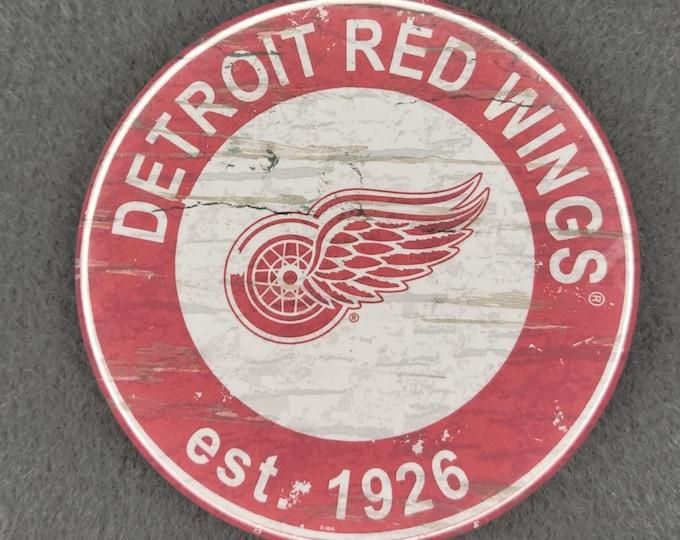 Detroit Red Wings magnet, Detroit Red Wings logo magnet, NHL sports team magnet, NHL sport team magnet, NHL travel sport fridge magnets
