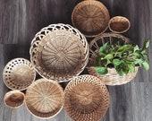Set of 8 Wall Baskets Boho Basket Wall Assorted Wall Baskets Boho Wall Decor Decorative Wicker Wall Baskets Wall Basket Bohemian Home