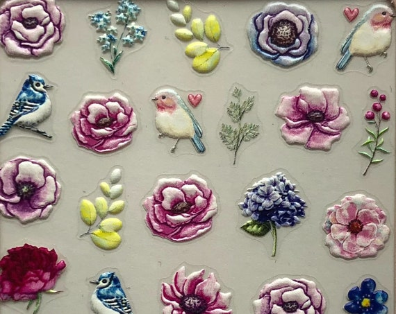 Flower Nail Stickers, Adhesive - Easy to DIY
