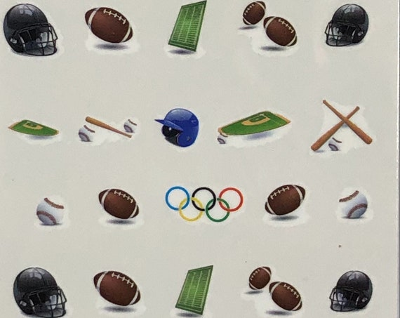 Sport Nail Decals 5, buy one get one FREE