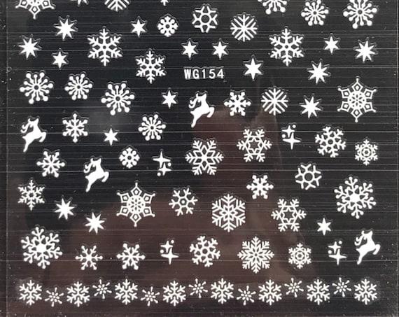 Snowflake Nail Stickers, Adhesive - Easy to DIY