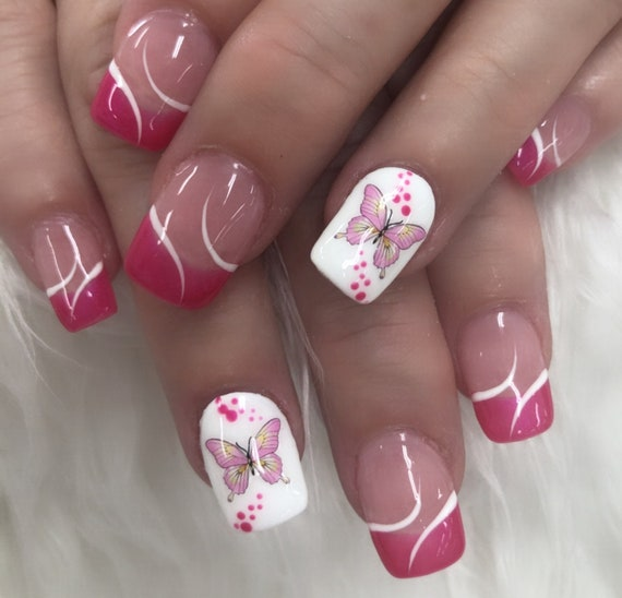 Butterfly 3D Nail Decals, Nail Stickers