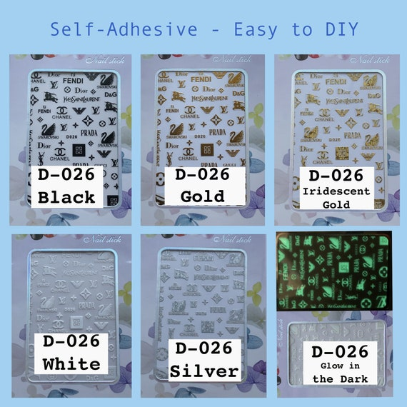 Bundles of Nail Stickers, D026, Self-Adhesive - Easy to DIY
