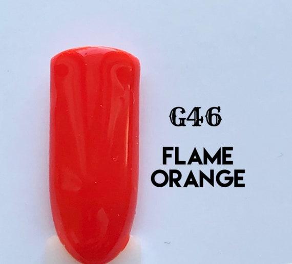 Flame Orange-G46, UV Gel Nail Polish 7.5ml (0.26 fl.oz)