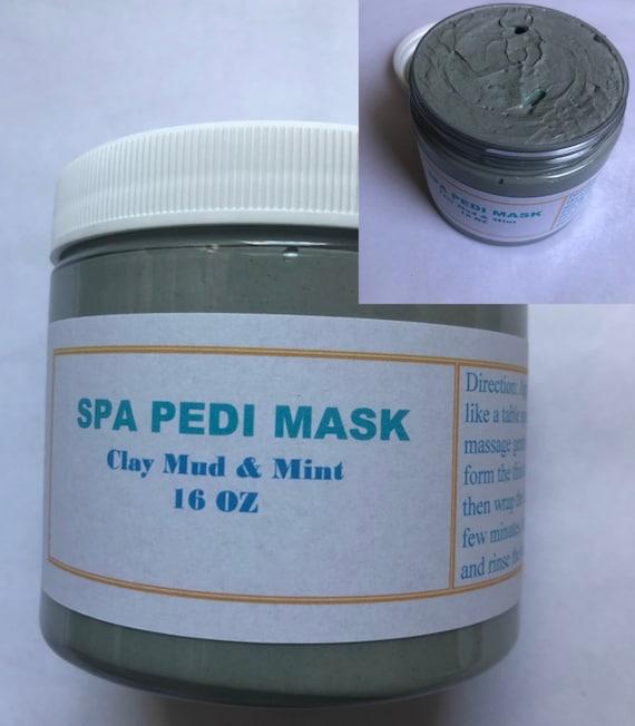 Spa Pedicure Clay Mask, Pedicure Treat, Minty Clay Mask, Detox Spa Pedicure