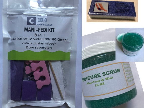 Regular Pedicure Set, Pedicure Scrub, Mani-Pedi Tool Kit