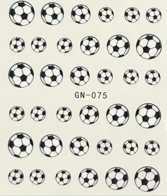Sport Nail Decals 4- Soccers, buy one get one FREE