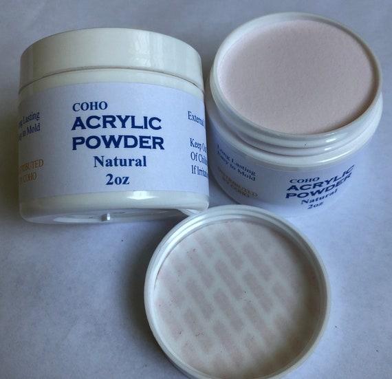 Acrylic Powder 2 Oz, Extension Nails, Natural Color, Long Lasting, Easy to mold, Acrylic Nails