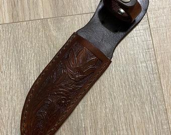 """Handmade Leather Knife Sheath - fits 5"""" blade"""