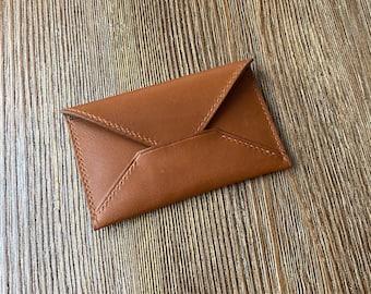 Calfskin leather  wallet   Hermes Novonappa leather wallet   envelope pouch card holder   chevre wallet   Minimalist calfskin card case