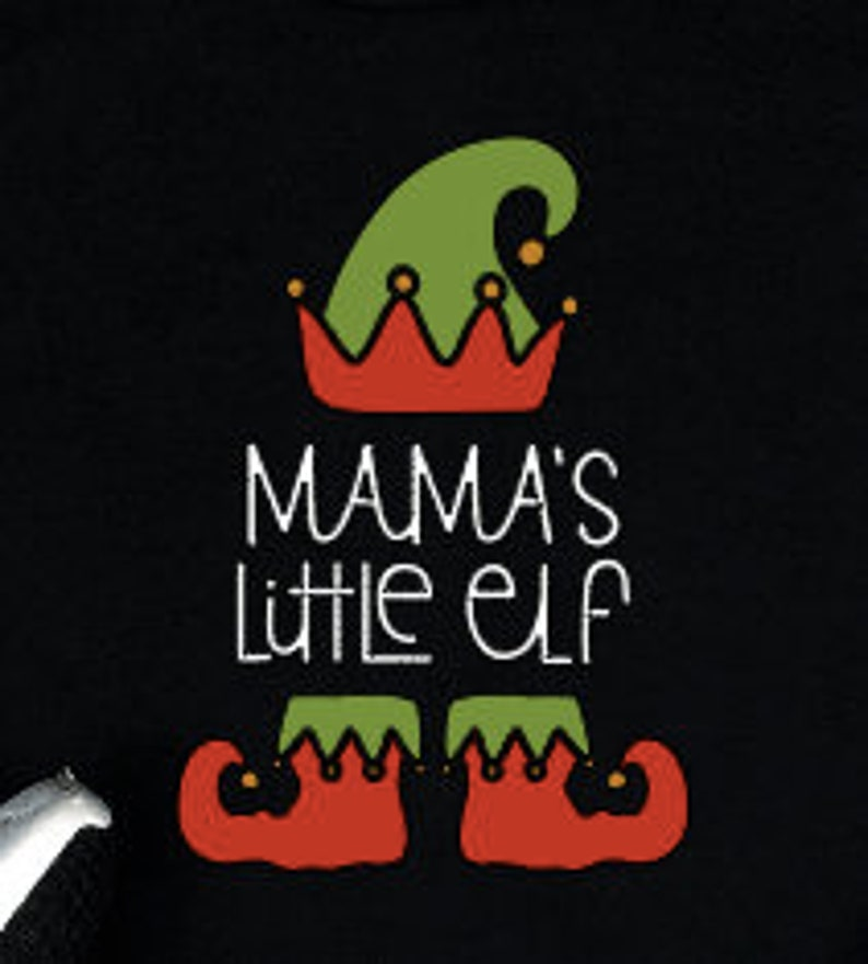 Youth holiday Christmas t shirt Mamma/'s little elf