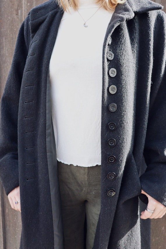 Vintage Bernard Holtzman Wool Button Closure Maxi… - image 2